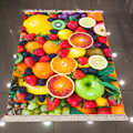 Else желтый оранжевый зеленый тропические фрукты банан яблоко 3d микрофибра Противоскользящий задний моющийся декоративный ковер для кухни