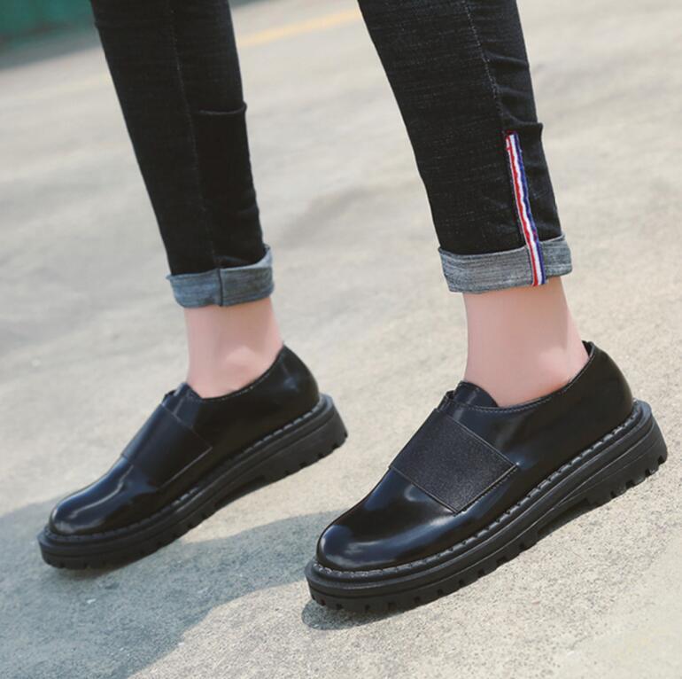 Rétro Vent Britannique Étudiants Chaussures Femme Harajuku En De Velours Liquidation Plus Automne Printemps A1 Giyu Et Cuir Petit wEtROxq
