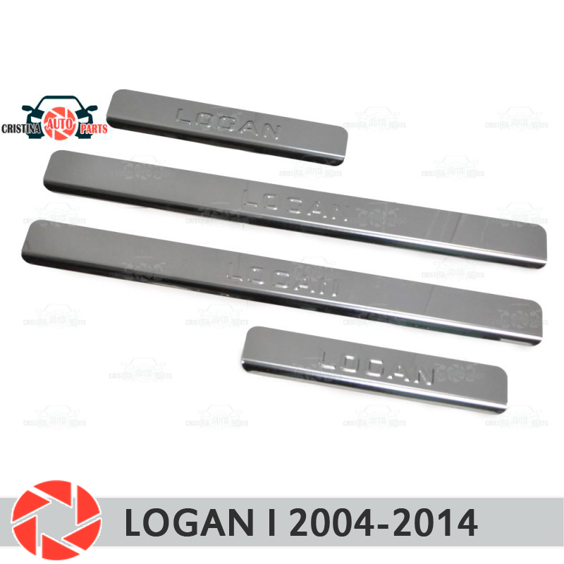 цена на Door sills for Renault Logan 2004-2014 step plate inner trim accessories protection scuff car styling decoration