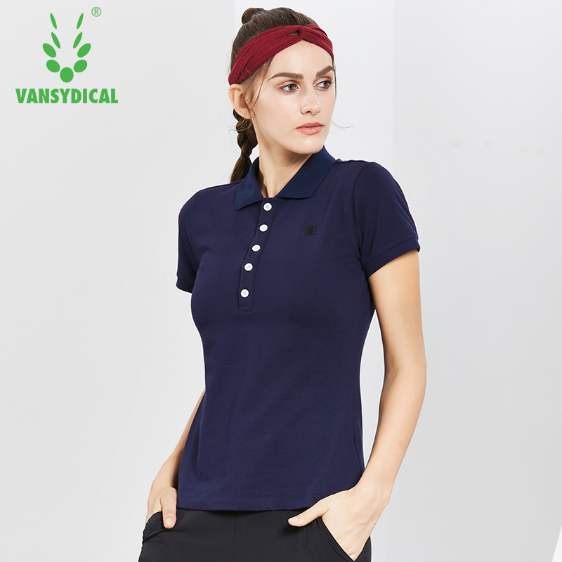 2018 Sports Polo Shirts Tops Womens Golf Shirts Short Sleeve Cotton Breathable Outdoor Workout Tennis Golf Jerseys