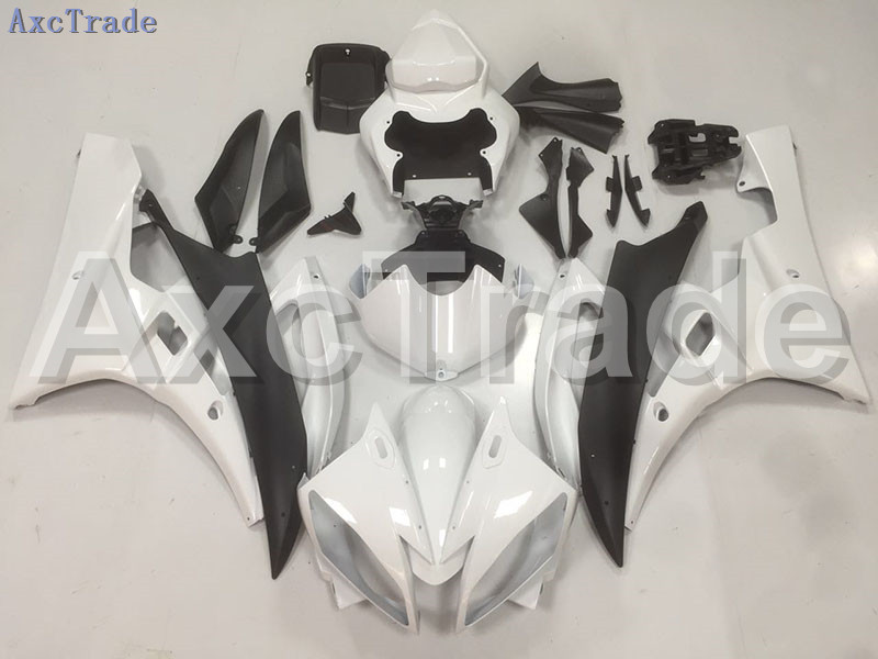 Motorcycle Fairings Kits For Yamaha YZF600 YZF 600 R6 YZF-R6 2006 2007 06 07 ABS Injection Fairing Bodywork Kit White Black B42 hot bodywork fairings set for yamaha injection molding yzf r6 2006 2007 red black santander yzf r6 06 07 fairing kit hy42