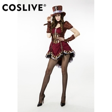 Coslive Women Cool Ste&unk Western Cowboy Cowgirl Costume Short Claret Dress Ladies Fancy Halloween Carnival Party  sc 1 st  AliExpress.com & Buy western fancy dress and get free shipping on AliExpress.com