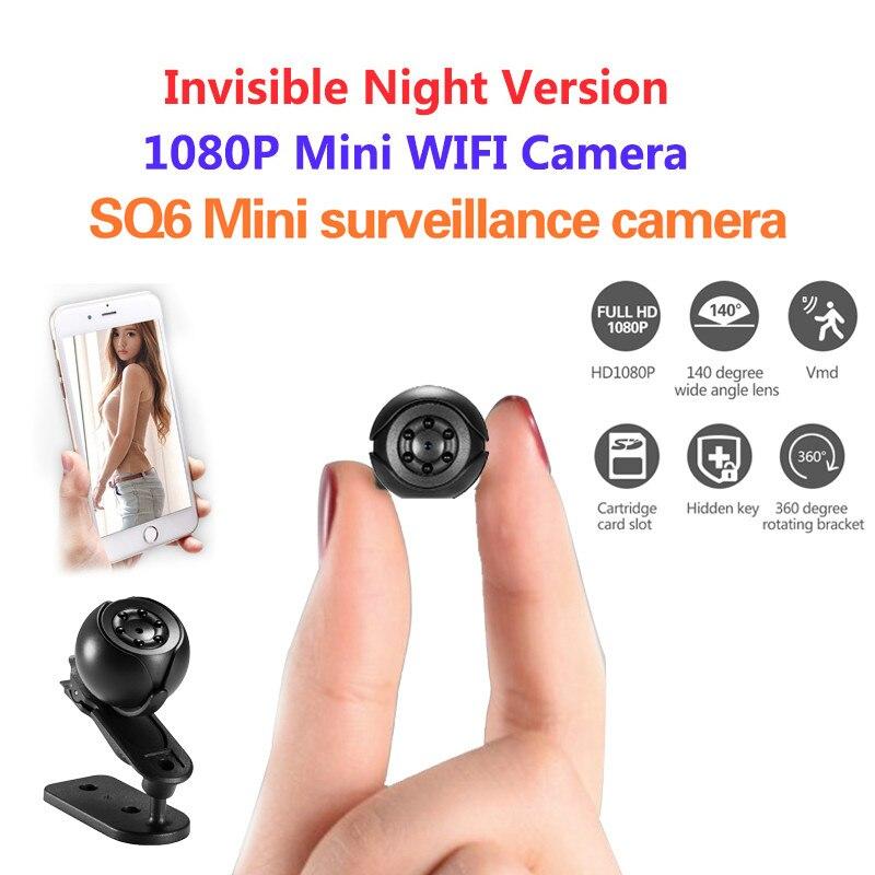 c9764fb27 SQ6 Mini Câmera 1080 p Esporte Mini DV Visão Noturna Infravermelha Monitor  Escondido pequeno DV Video