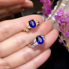 цена KJJEAXCMY Fine Jewelry 925 sterling silver inlaid natural sapphire female ring support test xcv онлайн в 2017 году
