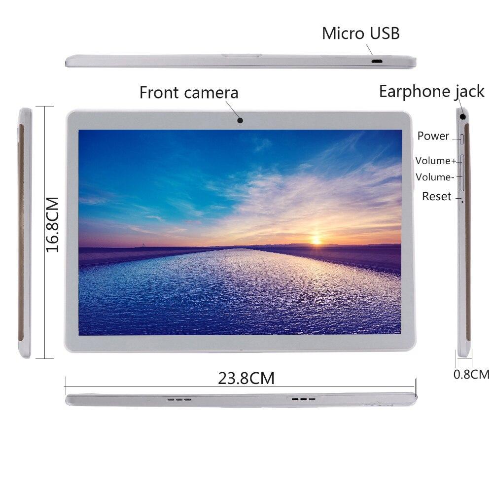 Новейшая модель; 10 дюймовый планшетный ПК с системой андроида и 9,0 6 ГБ Оперативная память 32GB Встроенная память Octa Core 8 ядер, две камеры, 5.0MP 1280 800 ips телефон Планшеты MTK6753 - 4