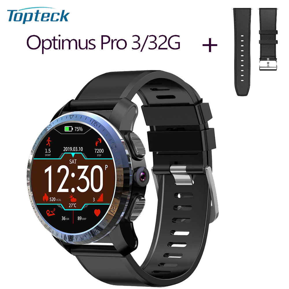 "KOSPET Optimus Pro 4G LTE Smart Horloge Android 7.1.1 3 GB + 32 GB 1.39 ""AMOLED 8.0MP Smart horloge GPS WiFi BT4.0 waterdicht-in Smart watches van Consumentenelektronica op  Groep 1"