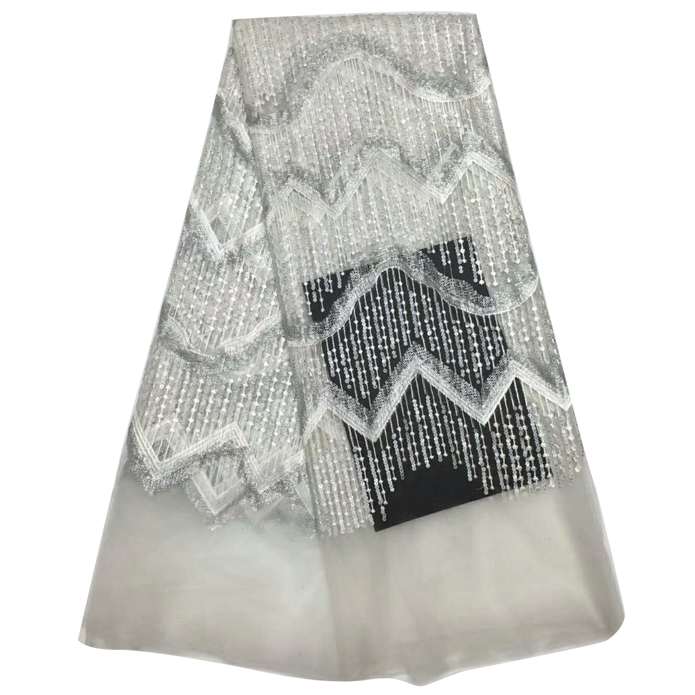 Special lace fabric  French  lace fabric African sequins lace fabric white high quality African tulle lace fabric HJ684-1Special lace fabric  French  lace fabric African sequins lace fabric white high quality African tulle lace fabric HJ684-1
