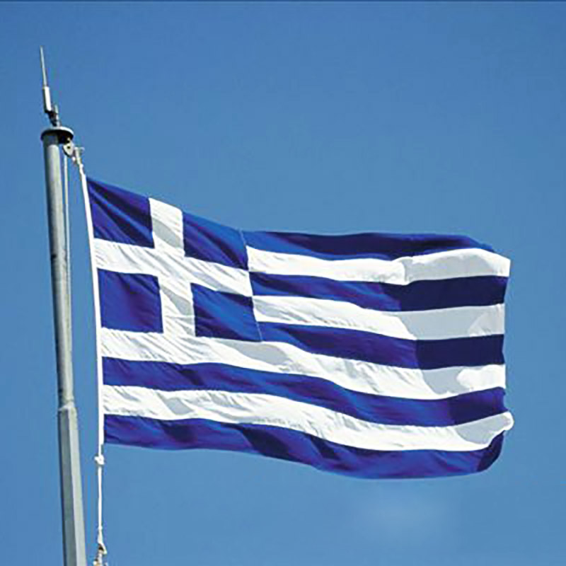 Greece flag 3 5 ft large polyester greek national flags for Decor nation