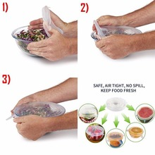 Food Cover Lids Silicone Stretchable Kitchen Tools