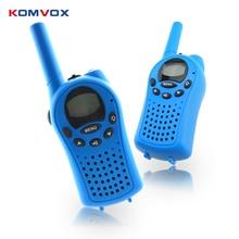 2 pçs mini walkie talkie para crianças rádio frs/gmps 8/22ch vox lanterna lcd uhf 400 470 mhz em dois sentidos rádios interfone presentes