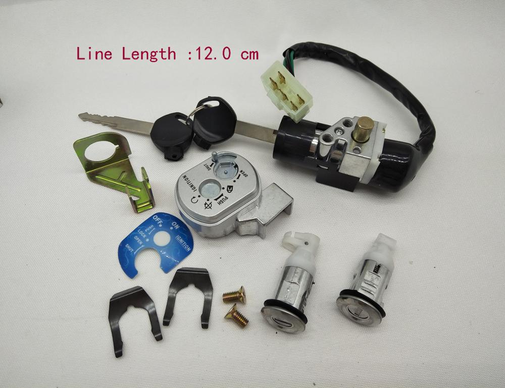 A415 Motorcycle Ignition Switch Lock Set 12mm 5 Wires  For Honda SDH125T-22 WH125T-2 KSB WH 125 Spare Parts Power Lock Door Lock