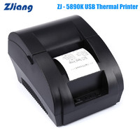 Zjiang ZJ 5890K Mini 58mm Receipt Thermal Printer 90mm/S USB Port Compatible With ESC / POS EPSON Samsung Thermal Line Printing