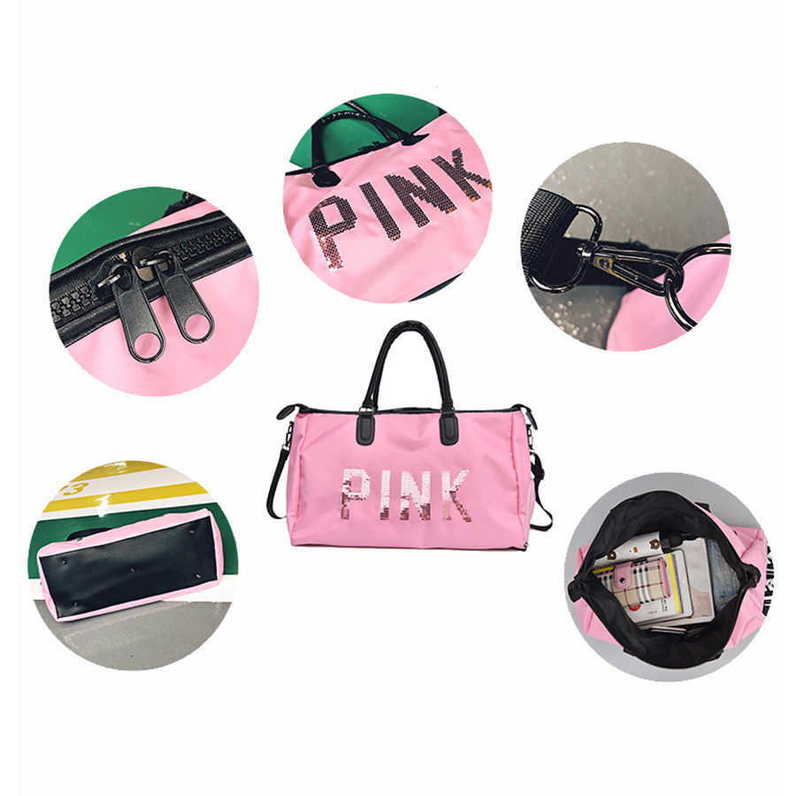 1634c02978 Waterproof Women Gym Bag Pink With Shoes Wet Pack Duffel Bag Fitness For  Gym Shark Handbag Travel Female Yoga Mat Shoulder Bgas