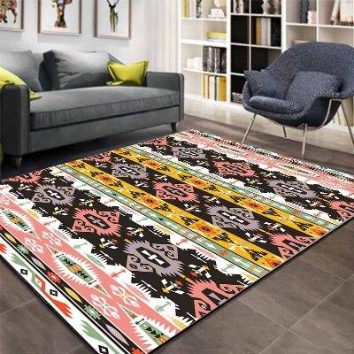 Else Aztec Ethnic Pink Black Geometric 3d Pattern Print Non Slip Microfiber Living Room Decorative Modern Washable Area Rug Mat