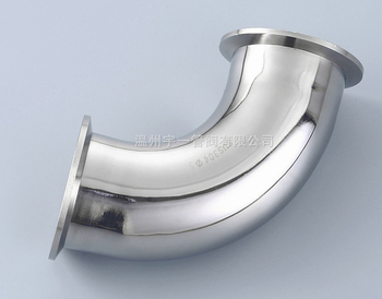 Free shipping 2''(51mm) Sanitary Tri Clamp 45 Degree Elbow SS 304 free shipping 2 51mm tri clamp spool lenght 24 sanitary stainless steel ss 304