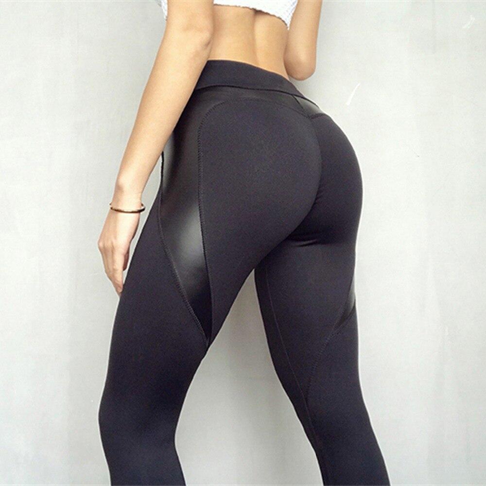 Yoga Pants Black Heart Shape Booty 3