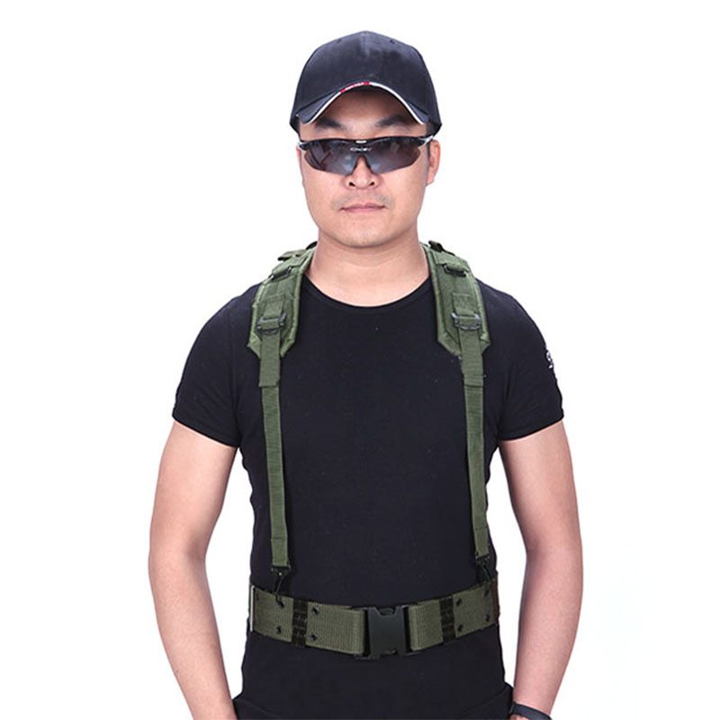 Y-type Belt High-quality Tactical Belt S-type Adjustable Belt Military Hunting Accessories Equipment CS Army Fans Shoulder Strap
