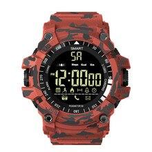 EX16 Mais Inteligente Assista Men Sport Watch 5ATM Atividade Rastreador À Prova D' Água relogio inteligente Bluetooth Relógios Para Android e IOS