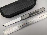 Kesiwo D2 blade folding knife Titanium+carbon fiber EDC pocket tactical knife utility outdoor camping knife tools