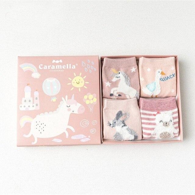 Комплект детских носков «смешной Единорог», 4 пары