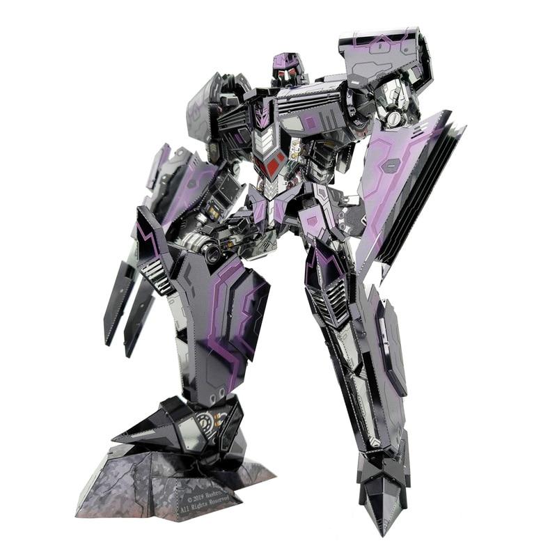 MU Megatron-IDW Version 3D Metal Kits DIY Assemble Puzzle Laser Cut Jigsaw Building Toy YM-L081 For Gift