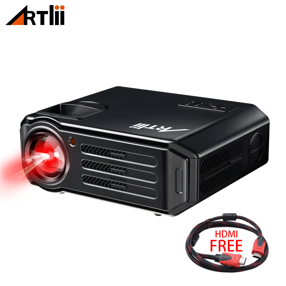 LED HD Video Projector Home Theater Projector Artlii  Multimedia for Movies, Games, Match and Party, LCD Movie Projector