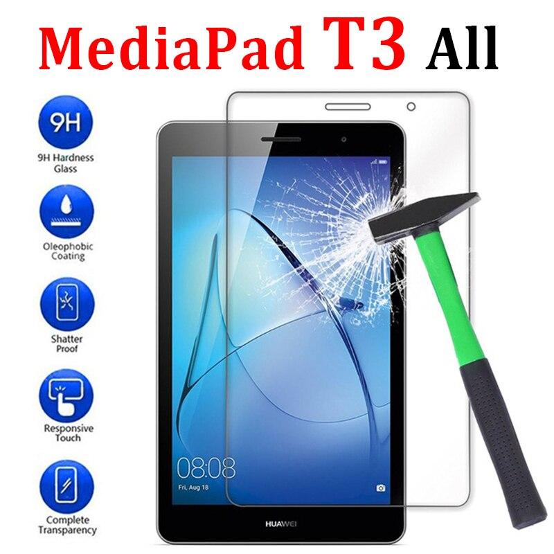Protector de pantalla de vidrio templado para tableta Huawei Mediapad T3, 7, 8, 9,6 pulgadas, 3T, Media Pad, 4G, Wifi, película protectora