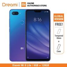 Küresel Sürüm Xiao mi mi 8 Lite 128 GB Rom 6 GB Ram (Marka yeni Ve Mühürlü) mi 8 lite 128 gb