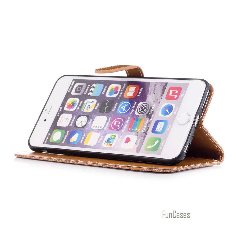 Denim Jeans Caso Del Basamento Per Apple iPhone 6S 7 Più di 5 S Cassa Del Raccoglitore Colorato Per iPhone 6 Più 5 SE meraviglioso sacchetto del telefono Capinhas