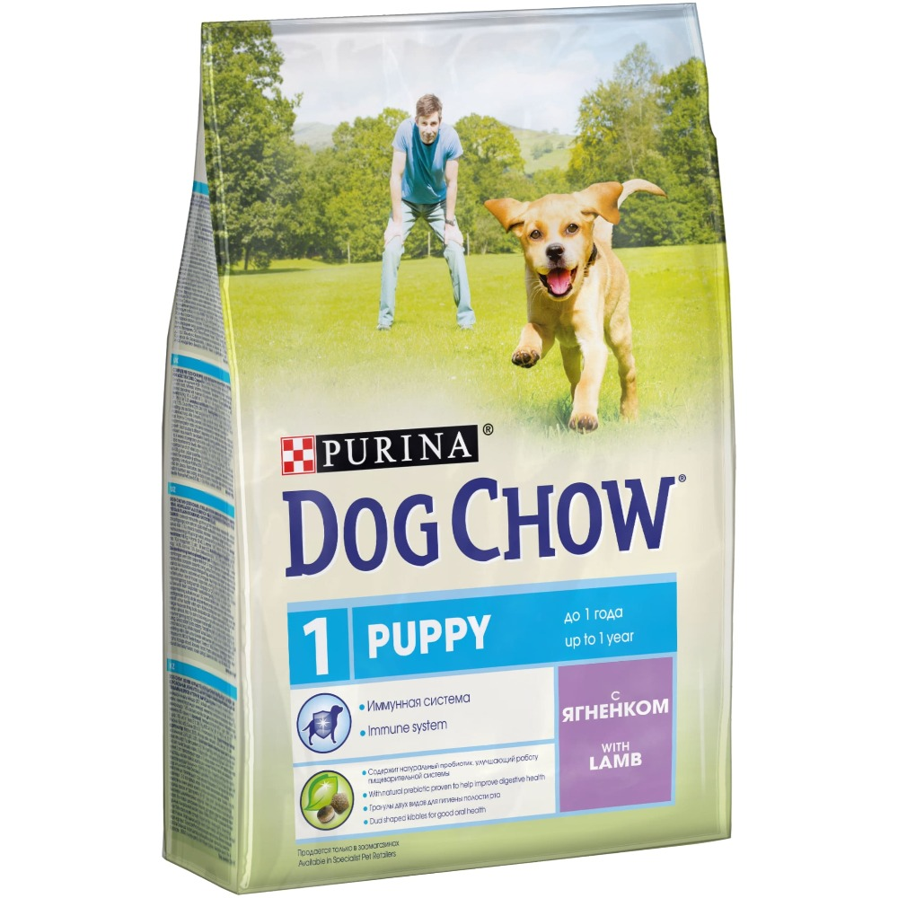 Dog Chow dry food for puppies up to 1 year old with a lamb, 10 kg.