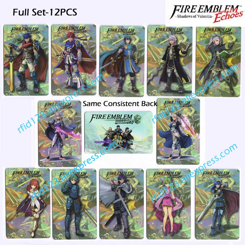 Fire Emblem Echoes: Shadows of Valentia  NFC NTAG215 Printing Card Corrin Lucina Ike whole set-12pcs/lot сумка lake of fire k 826