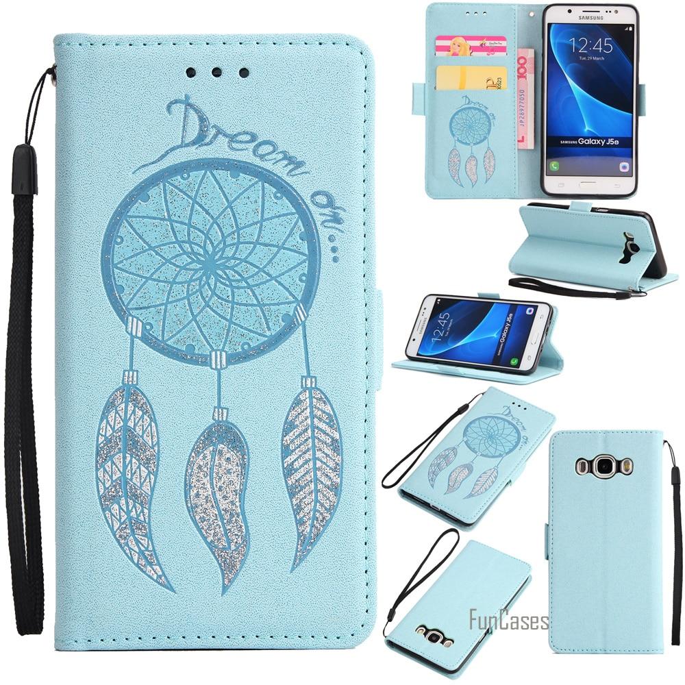 Flash Powder Flip Case For Samsung Galaxy S5 S6 S7 Edge S8 Plus Note 4 5 PU Case For Galaxy C9 Pro J3 J5 J7 2016 A3 A5 A7 2017