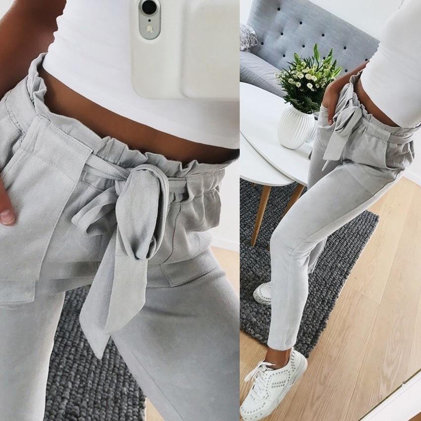 Pantalon de mode en daim pour l'au ...