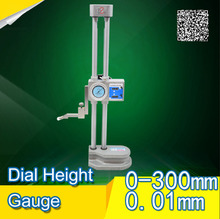 Buy online Double-beam Dlal Height Gauges Table column with a high degree of foot 0-300mm*0.01mm Vernier Caliper