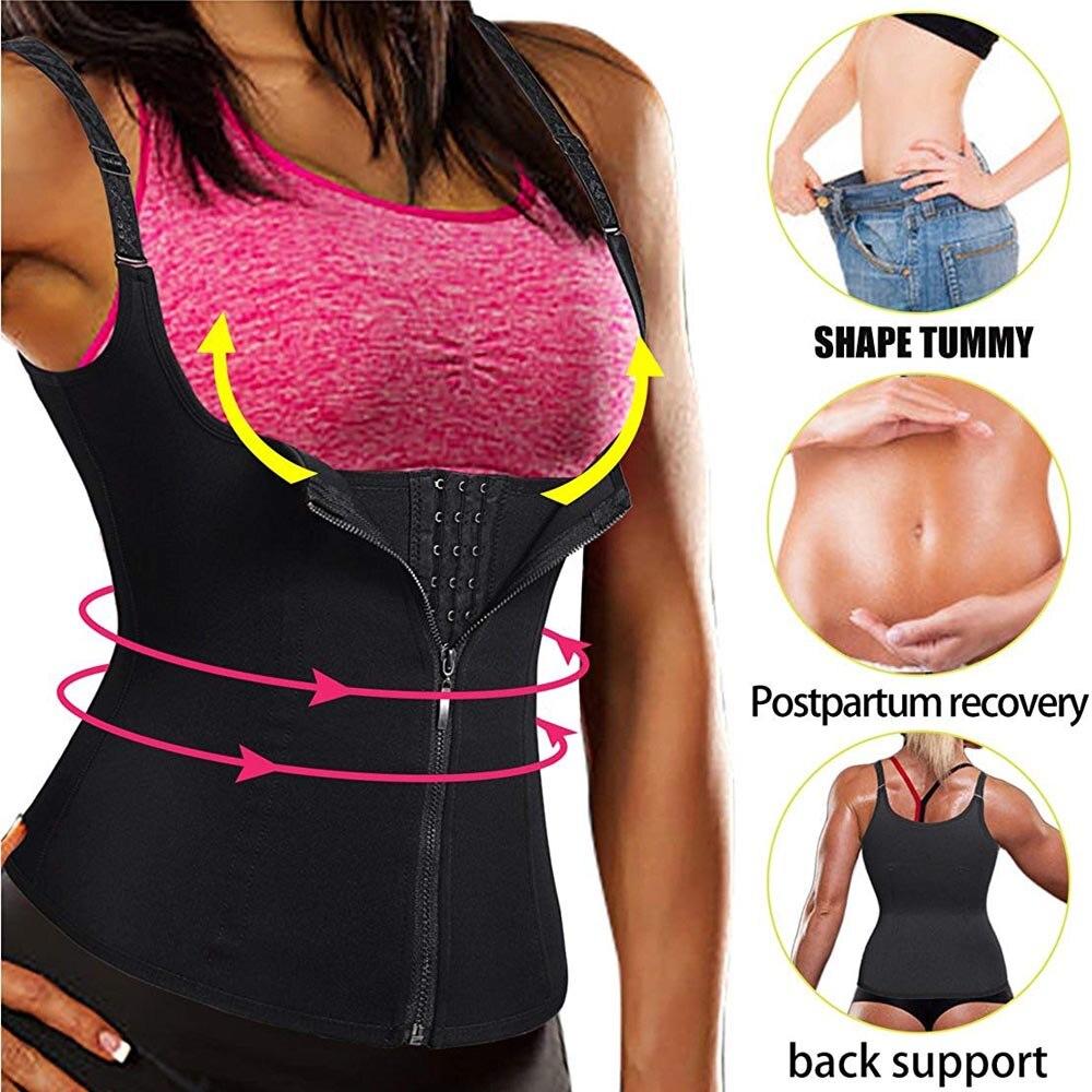 Waist Trainer Vest Latex Corset Slimming Chest Binder Waist Trainers