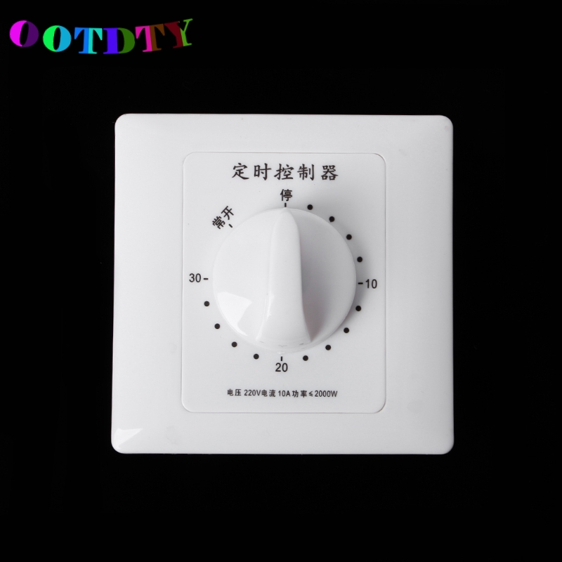 OOTDTY OOTDTY AC 220V Timer Switch Control Pump Mechanical Countdown Control Interruptor 30/60/120 Minutes maytoni подвесной светильник maytoni bird arm013 pl 01 w