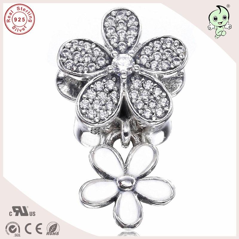 P&R High Quality New Collection Flower Design 925 Genuine Silver Pendant Charm Fitting European Famous Bracelet