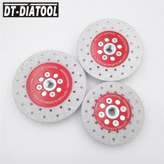1pc #40/50 Vacuum Brazed Double Side Coated Diamond Grinding Disc for Grinder Cutting wheel saw blade for marble concrete M14