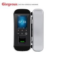Gorgeous Glass door smart fingerprint lock Office free opening password lock Intelligent anti theft electronic lock