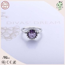 Top Quality Noble European And America Famous Silver Jewlery Summer Collection Big Stone 925 Real Silver