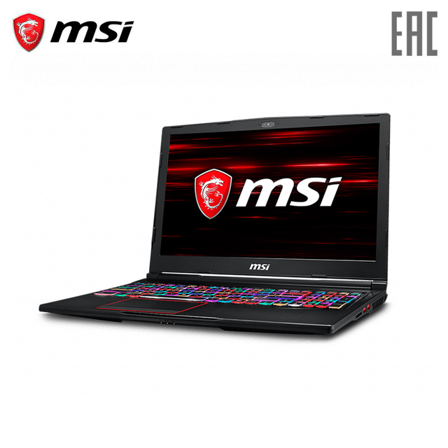 """Игровой ноутбук MSI GE63 8SE-235RU 15.6"""" FHD IPS 144Hz/ i7-8750H/16GB/1TB+128GB SSD/RTX 2060 6GB/Win 10 Black (9S7-16P722-235)"""