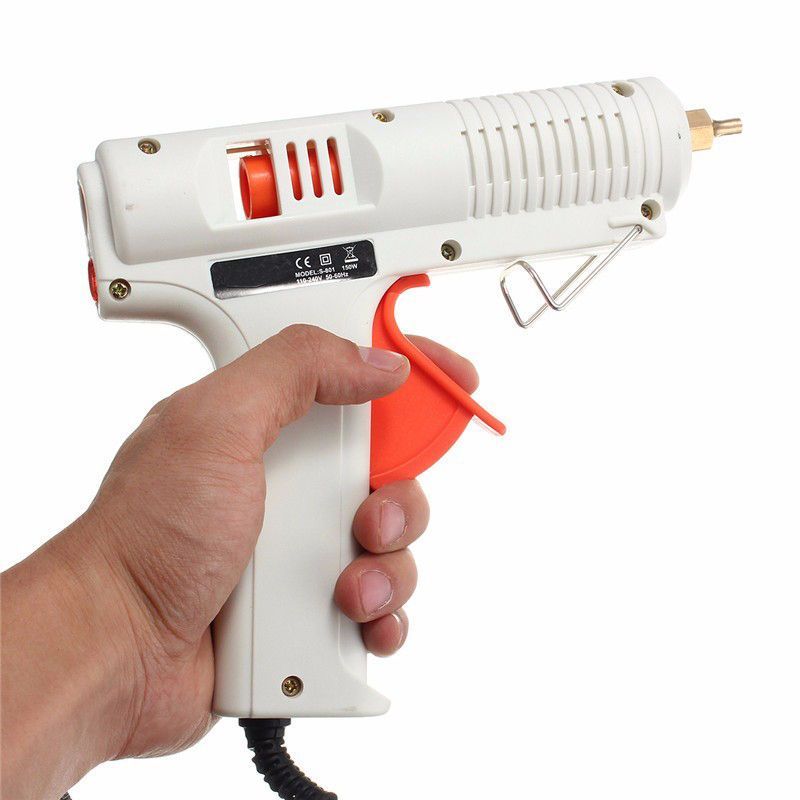 Hot Sale 1PC 150W 100-240V Adjustable Hot Melt Glue Gun High Power Fast Heat Temperature Power Tool Best Price 1pc hot sale 100