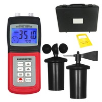 3 CUP Type Sensor Probe Multi function Thermo Anemometer 80% RH Air Weather Meter Wind Direction Air Speed Temperature