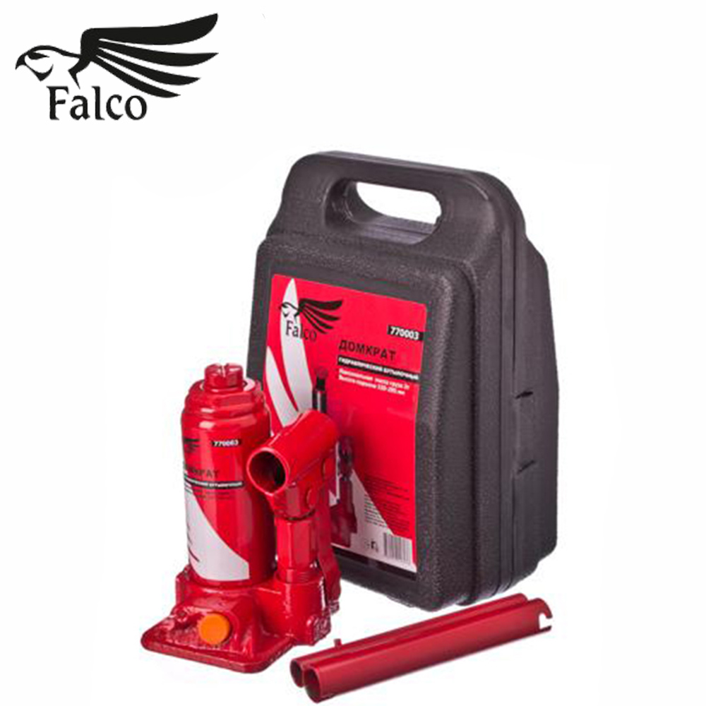 JACK DOMKRAT FALCO Hydraulic Bottle 3t In The Case Lifting Height 158-308 Mm Knives High Quality Discount Sales Knife 770-069
