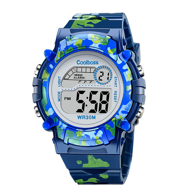 Alarm Clock Navy Sports Children's Watches Camo Military Child Watch Led Digital Electronic Kids Wristwatch Boys Girls Gift Date
