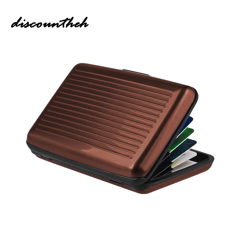 New Aluminum Metal Wallet Business ID Credit Card Case Holder Anti RFID Scanning Card Holders For Men And Women