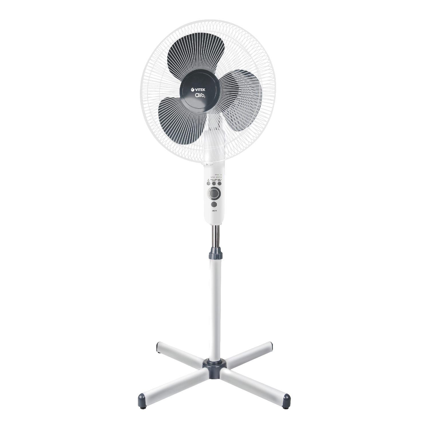 Household fan Vitek VT-1949 W (Power 50 W, outdoor, 3 speeds, remote control, turn mode, timer up to 7.5 h, height adjustment)