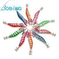 Bobing 10Pcs #3.5 3.5G Egi Squid Jigs Fishing Lure Shrimp Prawn Flick Bait Spinners Stainless Steel Hooks Tackle Accessories