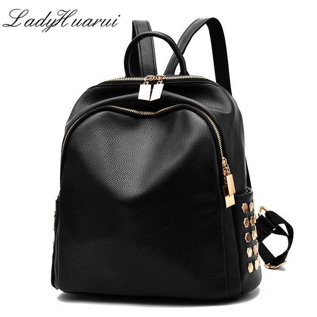 Lady backpack small size black school bag for teen girl top ...
