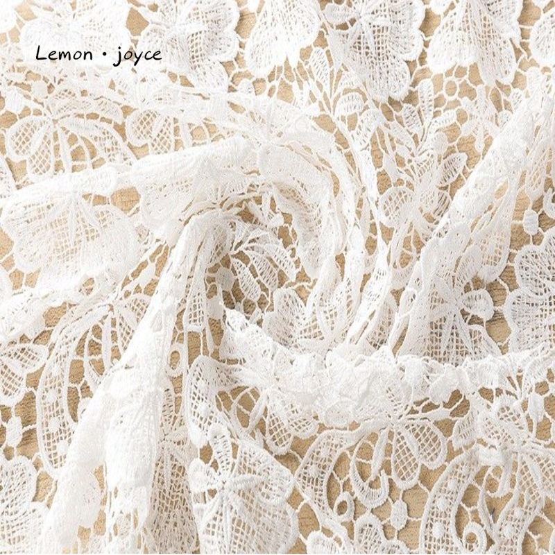 Wedding Lace Fabric Bridal Lace White French Lace 5 Yard  Embroidered Fabric Sewing Lace Trims 2019 High Quality Fabric(China)